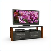 Sonax Berlin Real Wood Uprights TV Stand for 48-68 Inch Flat Panel TVs