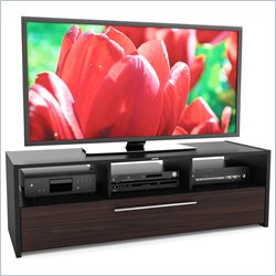 Sonax Naples Black and Ebony Pecan TV Stand for 42-68 Inch Flat Panel TVs
