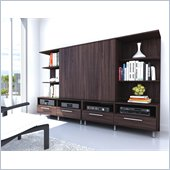 Sonax Contemporary Entertainment Center in Ebony Pecan Finish