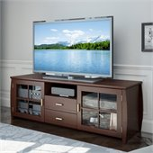 Sonax Washington Espresso TV Bench in Espresso Stained Real Wood Finish