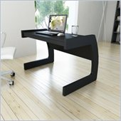 Sonax Contemporary Workspace Desk in Midnight Black Finish