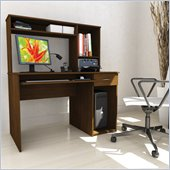 Sonax Workspace 47 Desk with Keyboard Tray and Hutch
