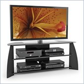 Sonax Florence  57  Glass TV Stand in Midnight Black