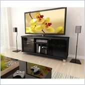 Sonax Holland 60 TV Gaming Bench in Ravenwood Black