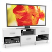 Sonax Sedona 60 Staggered 3 Drawer TV Stand in Frost White