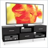 Sonax Sedona 60 3 Drawer TV Component Bench in Ravenwood Black