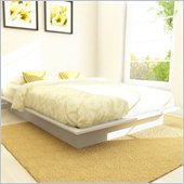 Sonax Plateau Platform Bed in Frost White