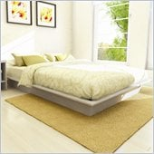 Sonax Plateau Queen Platform Bed with Headboard in Frost White