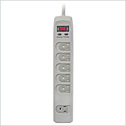 Sonax Surge Protector With 6 Protected Outlets  In Off White