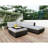 Sonax Z-103-TPP Park Terrace Textured Black 5 Piece Sectional Patio Set