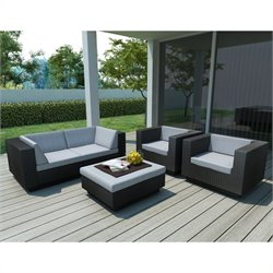 Corliving Park Terrace 5 Piece Sofa Patio Set in Black