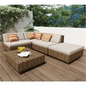 Sonax Park Terrace 5 Piece Sectional Patio Set
