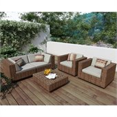 Sonax Park Terrace 5 Piece Sofa Patio Set