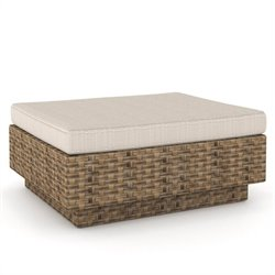 Corliving Park Terrace Ottoman in Saddle Strap Weave