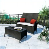 Sonax Cascade 2 Piece Patio Set in River Rock Black Weave