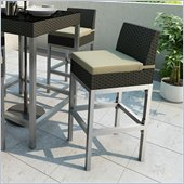 Sonax Lakeside Bar Height Patio Chair in River Rock Black Weave (set of 2)