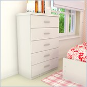 Sonax Willow 5 Drawer Chest in Frost White