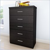 Sonax Willow 5 Drawer Chest in Ravenwood Black