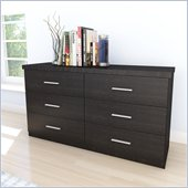 Sonax Willow 6 Drawer Dresser in Ravenwood Black