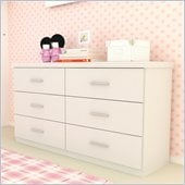 Sonax Willow 6 Drawer Dresser in Frost White