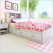 Sonax Willow Single Captain 6 Drawers Storage Bed in Frost White