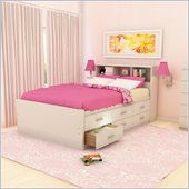 Sonax Willow Double Captain 12 Drawers Storage Bed in Frost White