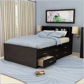 Sonax Willow Double Captain 12 Drawers Storage Bed in Ravenwood Black