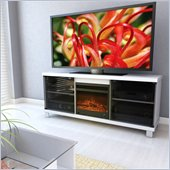 Sonax F-115-CHT Holland 60 Fireplace TV Bench in Frost White