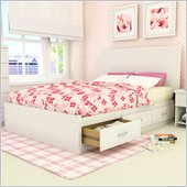 Sonax Willow Storage Bed with Panel Headboard in Frost White