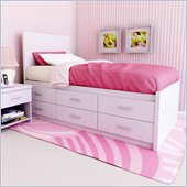Sonax Willow Captain's Storage Bed with Panel Headboard in Frost White