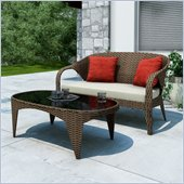 Sonax Harrison Patio Sofa and Table Set  in Pacific Bark Weave