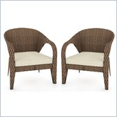 Sonax Harrison 2 Piece Patio Chairs in Pacific Bark Weave