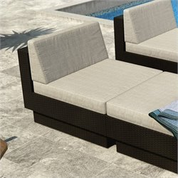 Corliving Park Terrace Armless Seat in Textured Black