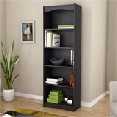 Sonax Hawthorn 72' Tall Bookcase in Midnight Black