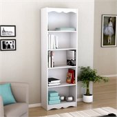 Sonax Hawthorn 72' Tall Bookcase in Frost White