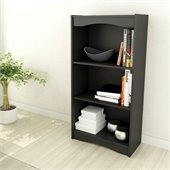 Sonax Hawthorn 48 Tall Bookcase in Midnight Black