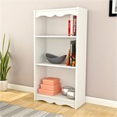 Sonax Hawthorn 48 Tall Bookcase in Frost White