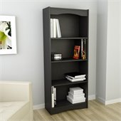Sonax Hawthorn 60 Tall Bookcase Midnight Black