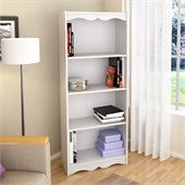 Sonax Hawthorn 60 Tall Bookcase in Frost White