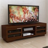 Sonax Granville 66 Warm Cinnamon Wood Veneer TV Stand in Cinnamon