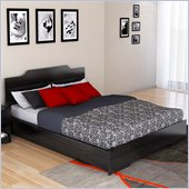 Sonax Plateau Queen Platform Bed in Midnight Black