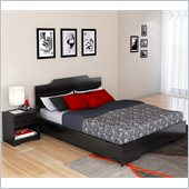 Sonax Plateau 2 Piece Queen Bedroom Set in Midnight Black