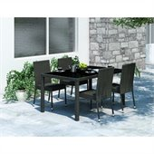 Sonax Park Terrace 5 Piece Patio Dining Set in Black Weave