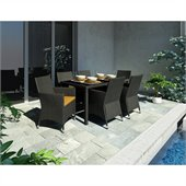 Sonax Park Terrace 7 Piece Patio Dining Set in Black Weave