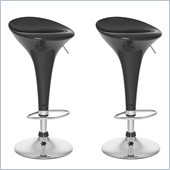 Sonax CorLiving Form Fitted Bar Stool in Black Gloss (Set of 2)