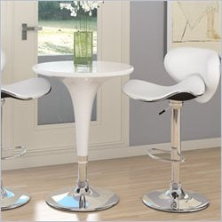 Sonax CorLiving Height Bar Table in White Gloss