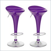 Sonax CorLiving Form Fitted Bar Stool in Purple Gloss (Set of 2)