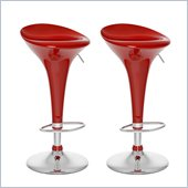 Sonax CorLiving Form Fitted Bar Stool in Red Gloss (Set of 2)