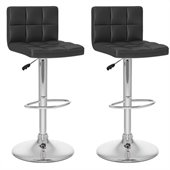 Sonax CorLiving High Back Bar Stool in Black Leatherette (Set of 2)