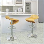 Sonax CorLiving Curved Seat Bentwood  Bar Stool (Set of 2)